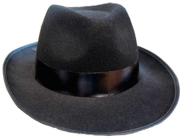 Gangster Hat - Black Feltex