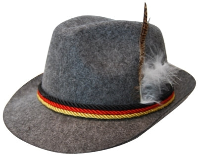 OKTOBERFEST GERMAN HAT GREY, ADULT