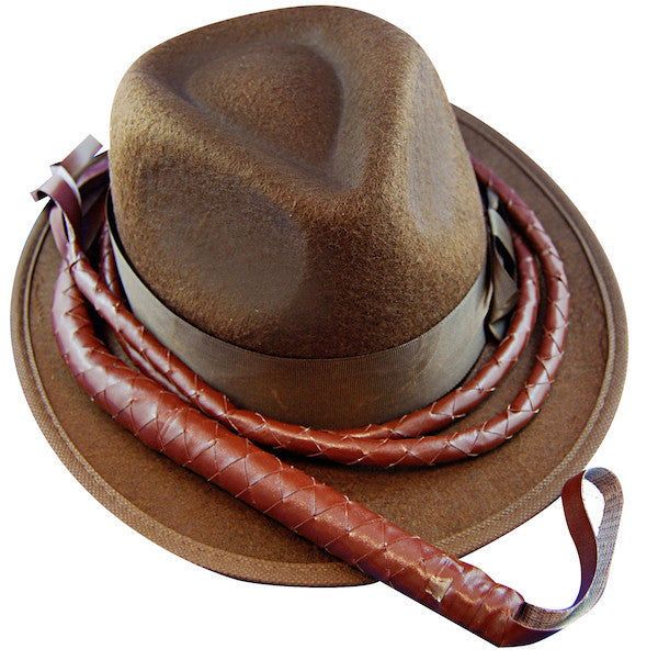Indiana Hat w/Whip - Brown Feltex