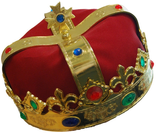 Royal Crown - Gold w/Red Fabric