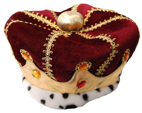 Plush Red Royal Crown Hat