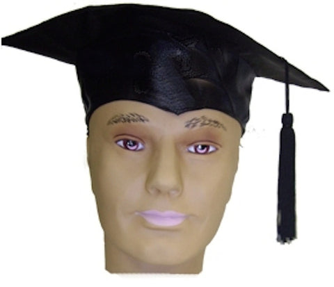 Mortar Board Graduation Hat - Satin