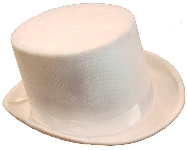 Velvet Top Hat - White
