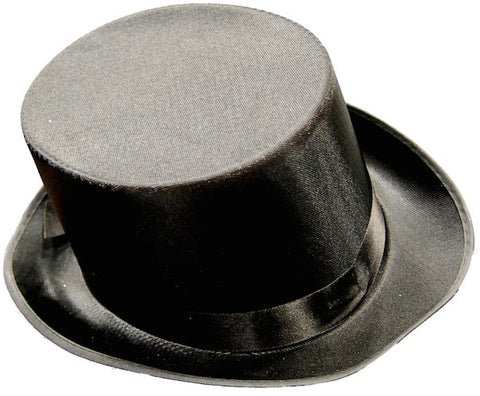 Top Hat - Black Satin