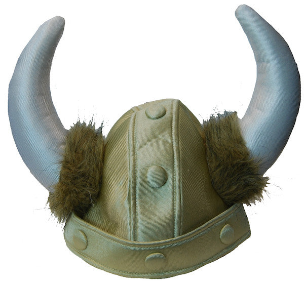 Plush Gold Viking Helmet w/Horns
