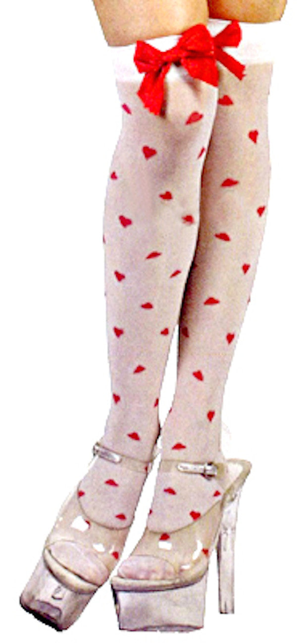 Thigh High Tights - Cupid Hearts