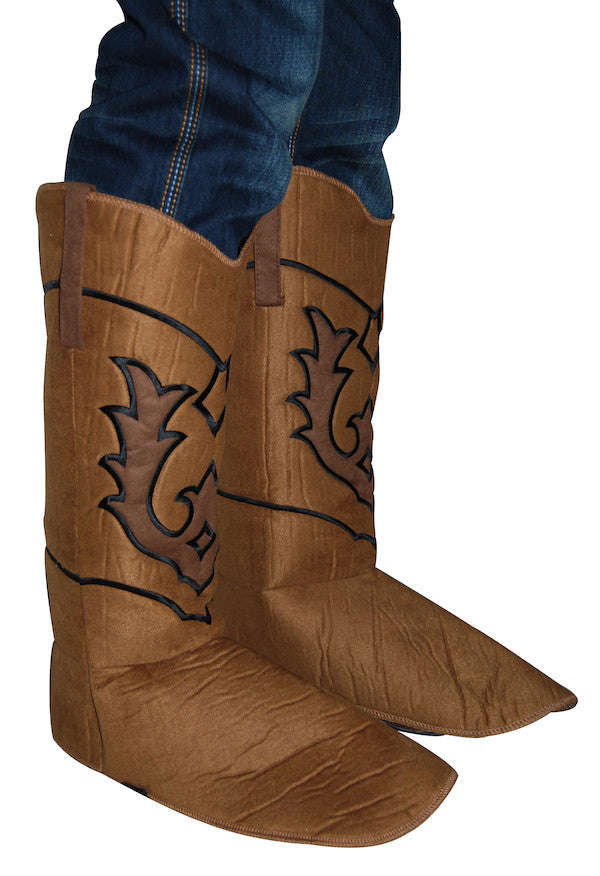 Suede Boot Covers - Cowboys