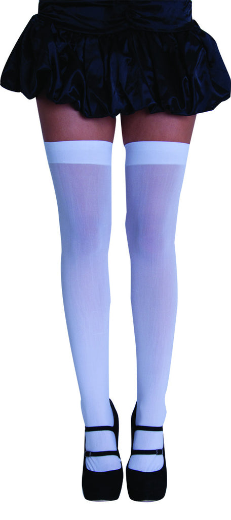 Thigh High Tights - White