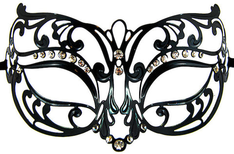 Metal Masquerade Mask - Black
