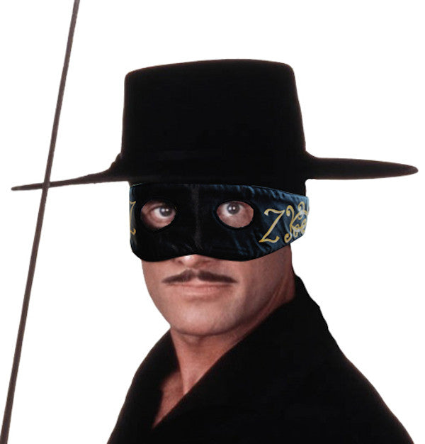 Deluxe Satin Zorro Z Mask - Adult