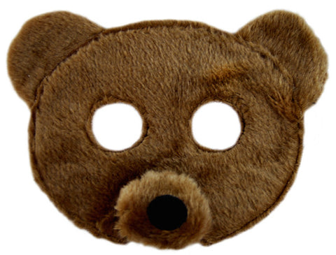 Plush Animal Mask - Bear