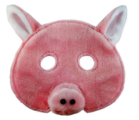 Plush Animal Mask - Pig