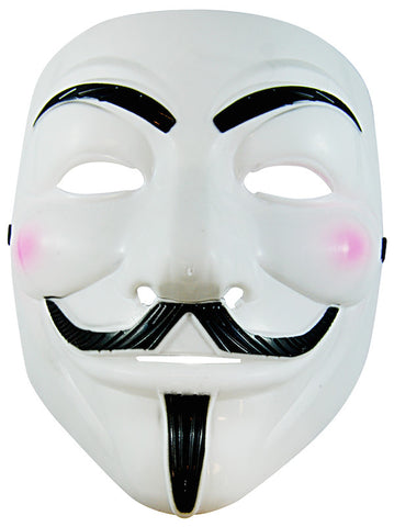 Plastic Anonymous Mask - Adult