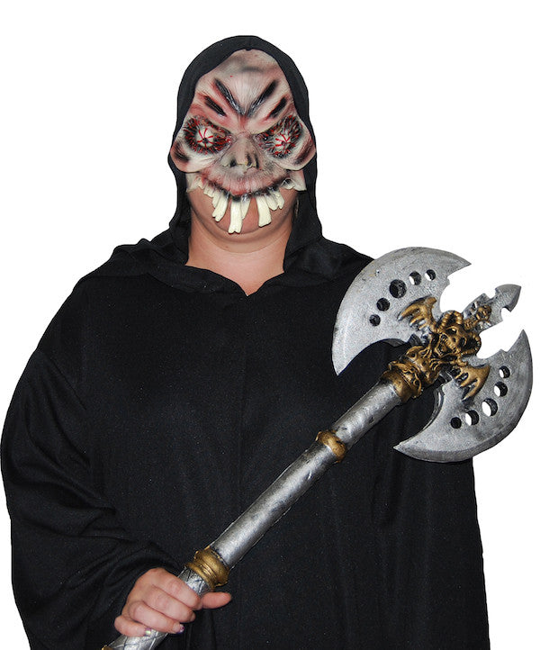 Evil Eyed Over Bite - Half Mask w/Hood