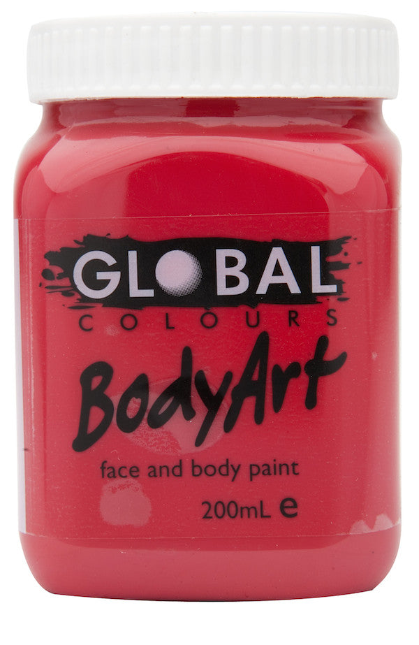Body Art 200ml Jar - DEEP RED
