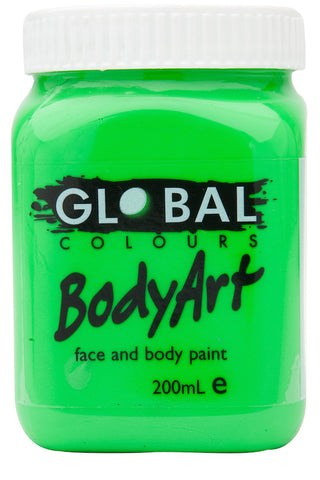 Body Art 200ml Jar - FLUORO GREEN