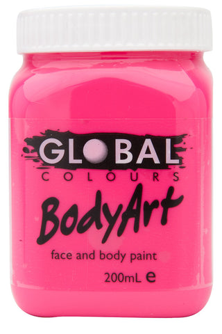 Body Art 200ml Jar - FLUORO PINK
