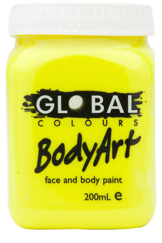 Body Art 200ml Jar - FLUORO YELLOW