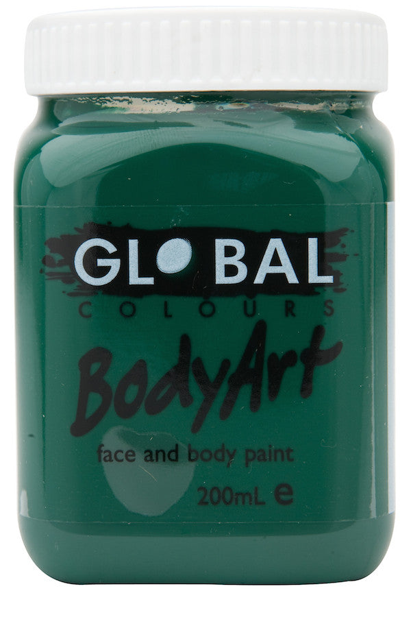 Body Art 200ml Jar - DEEP GREEN