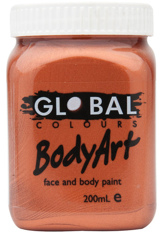 Body Art 200ml Jar - METALLIC COPPER
