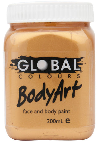 Body Art 200ml Jar - METALLIC GOLD