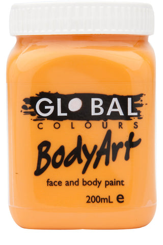 Body Art 200ml Jar - ORANGE
