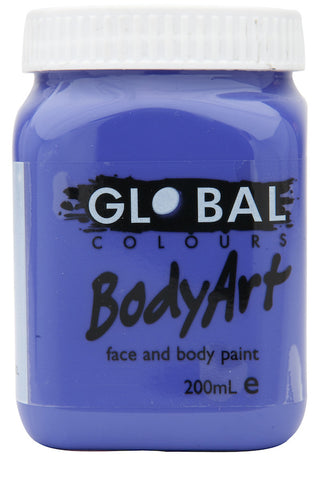 Body Art 200ml Jar - PURPLE