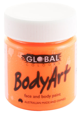Body Art 45ml Jar - FLUORO ORANGE