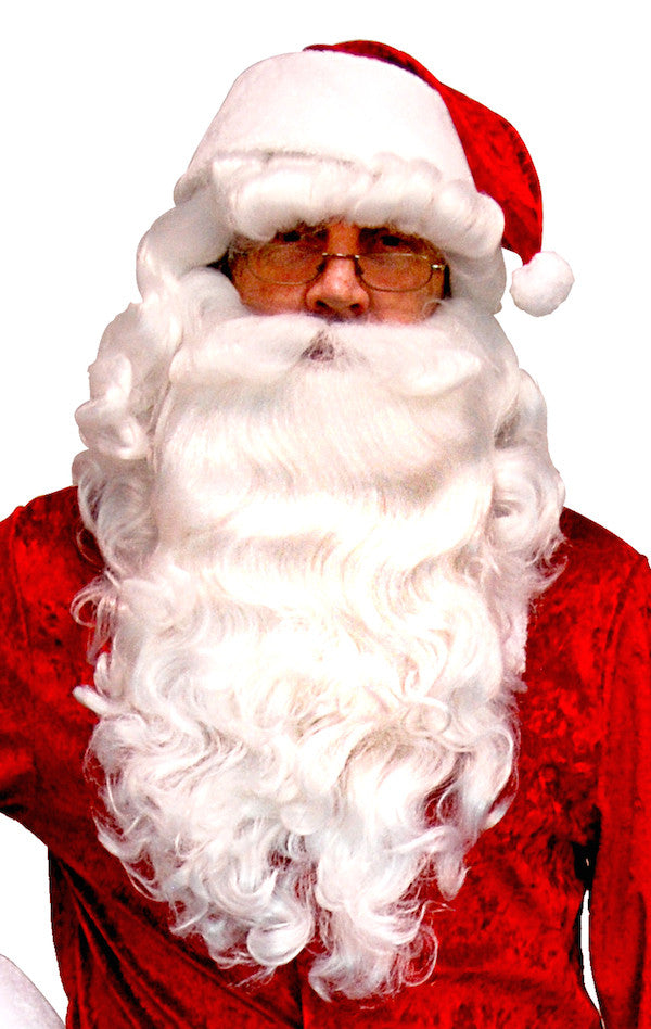 Super Deluxe Santa Wig & Beard Set