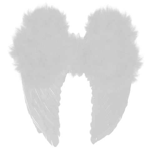 Feather Angel Wings - White
