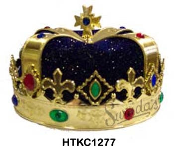 Royal Crown - Gold w/Blue Fabric
