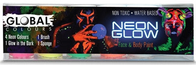 Global Face & Body Paint Set - Neon Glow