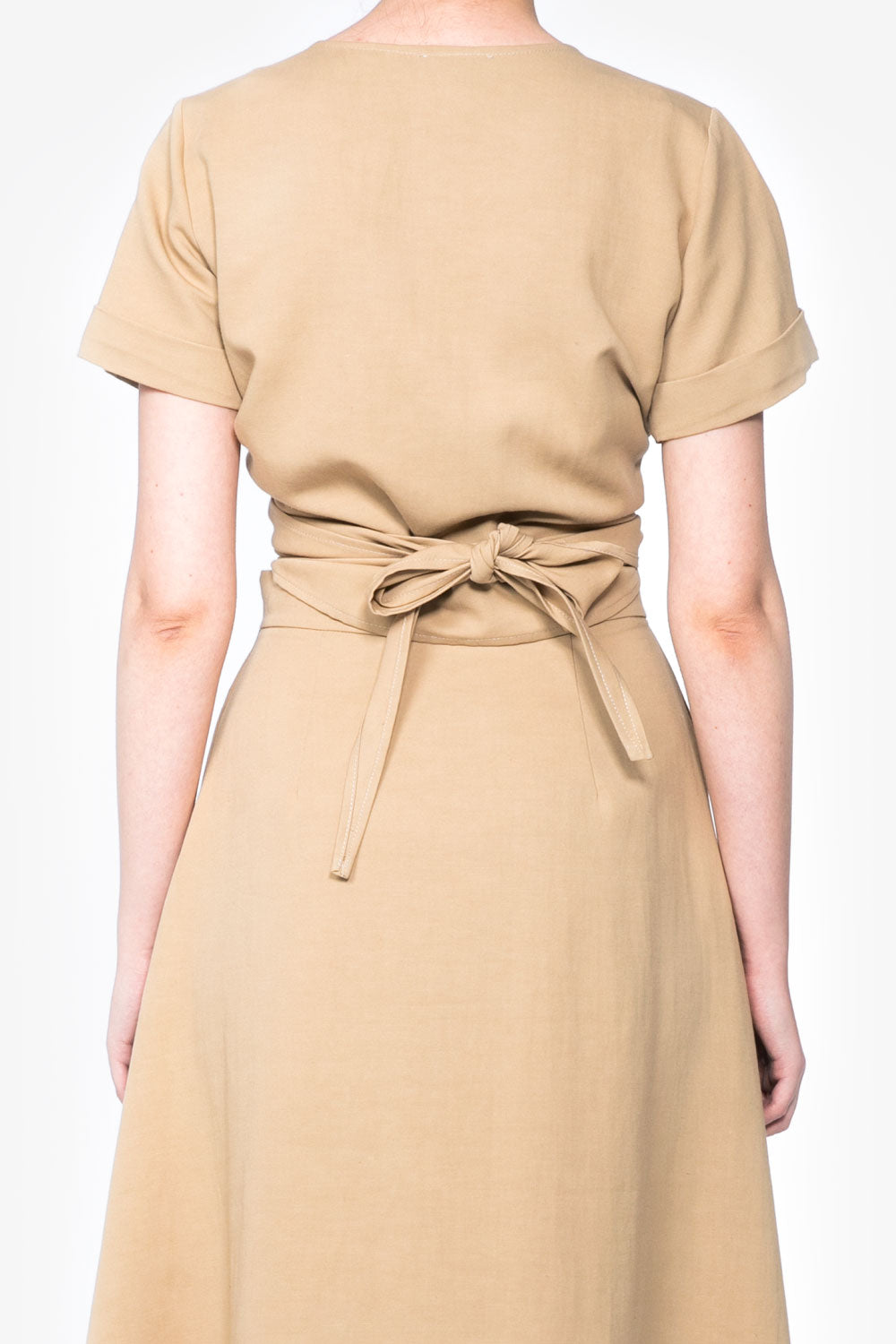Gilda Wrap Shirt in Sand