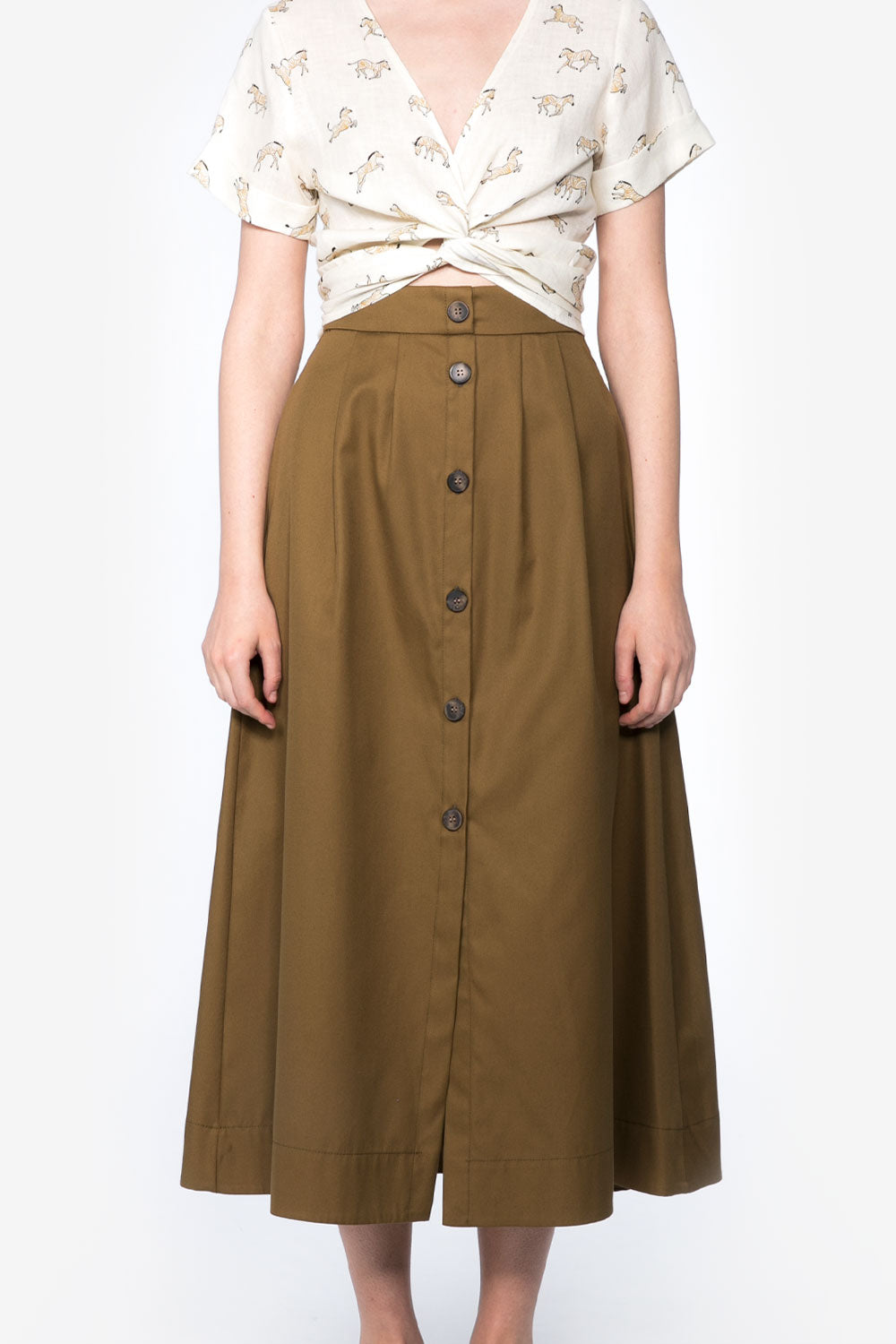 India Skirt in Safari