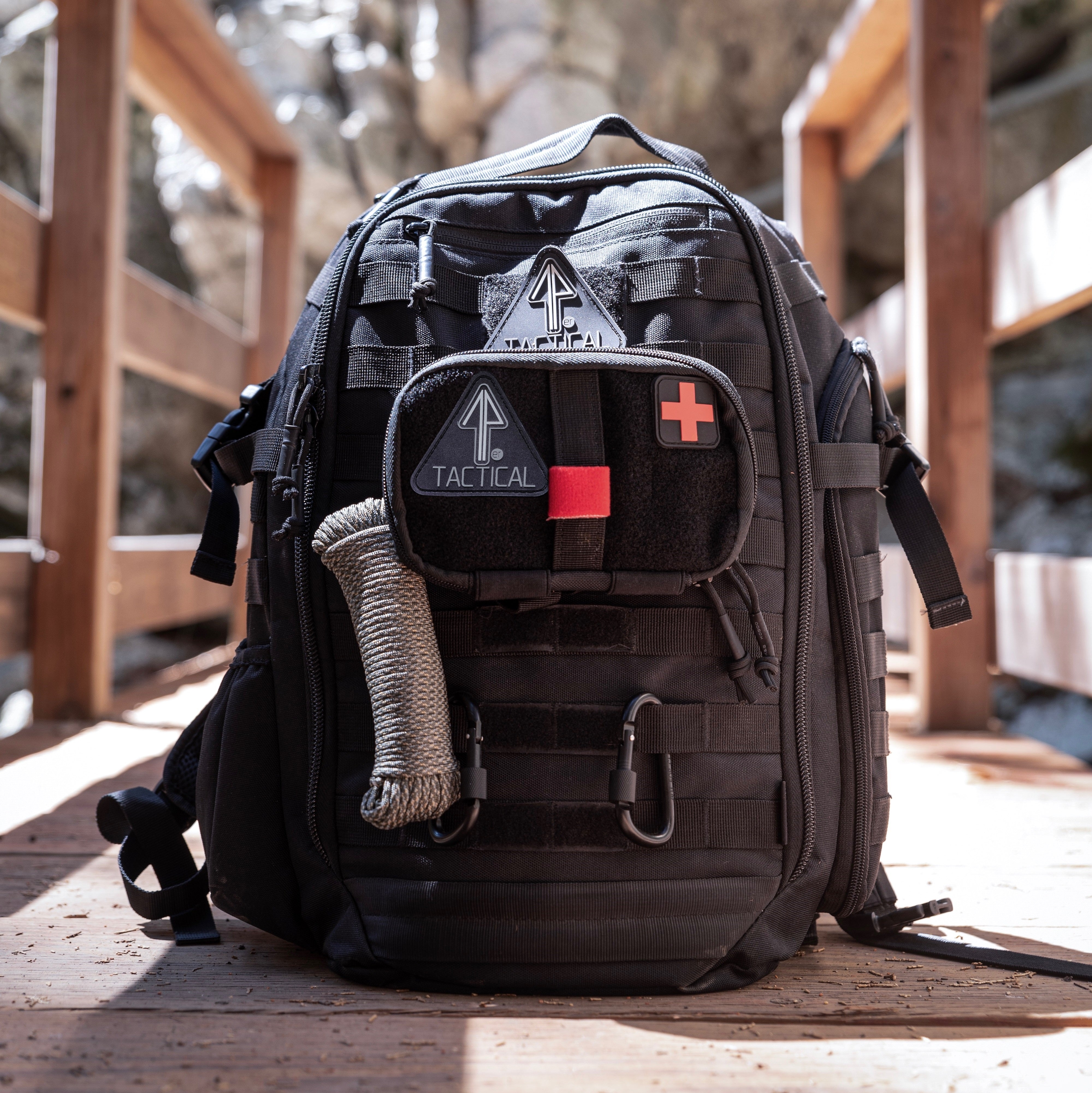 14er Tactical Backpack with IFAK and molle accessories