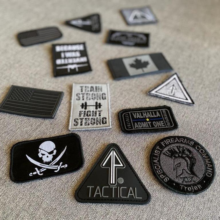 The 14er Morale Patches have clever phrases and imagery.