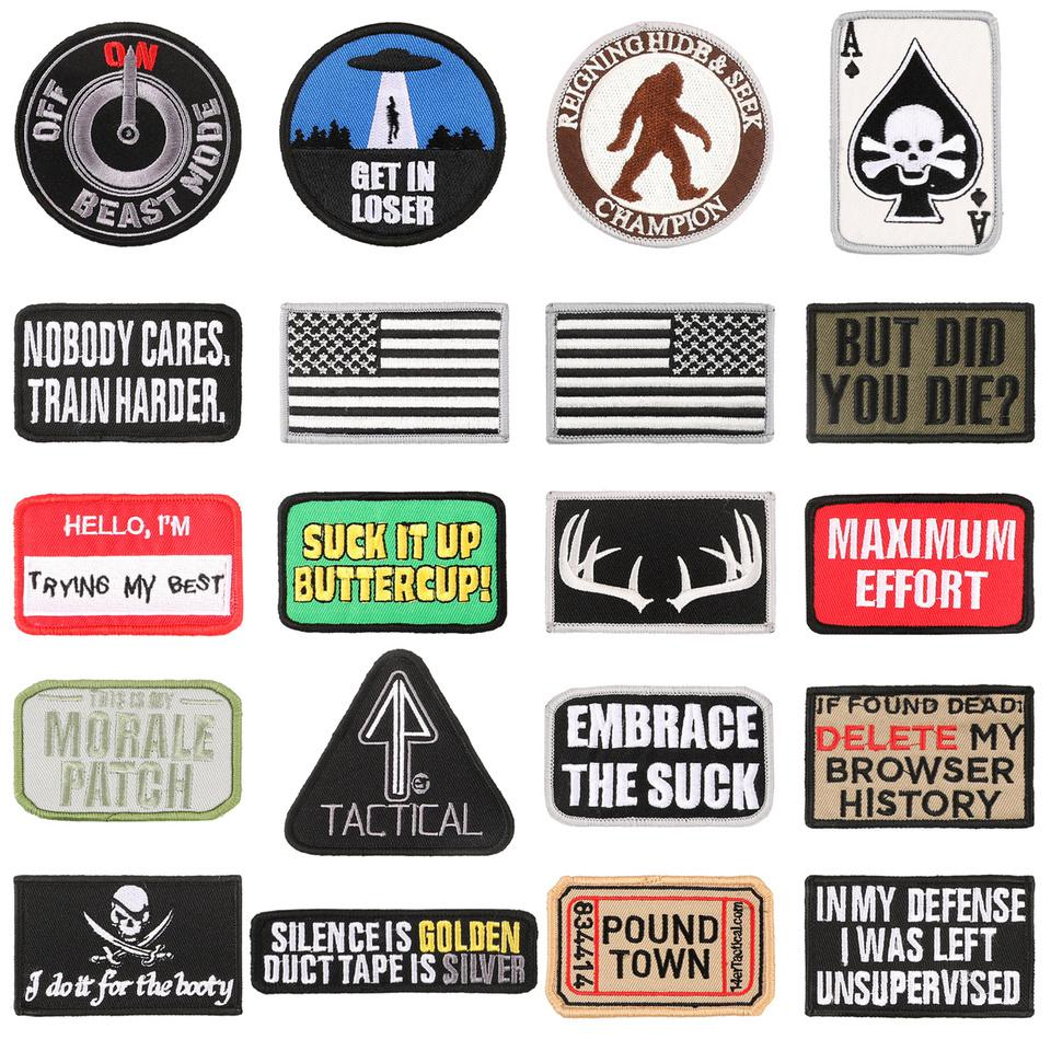 A layout of the 14er Tactical Morale Patches.