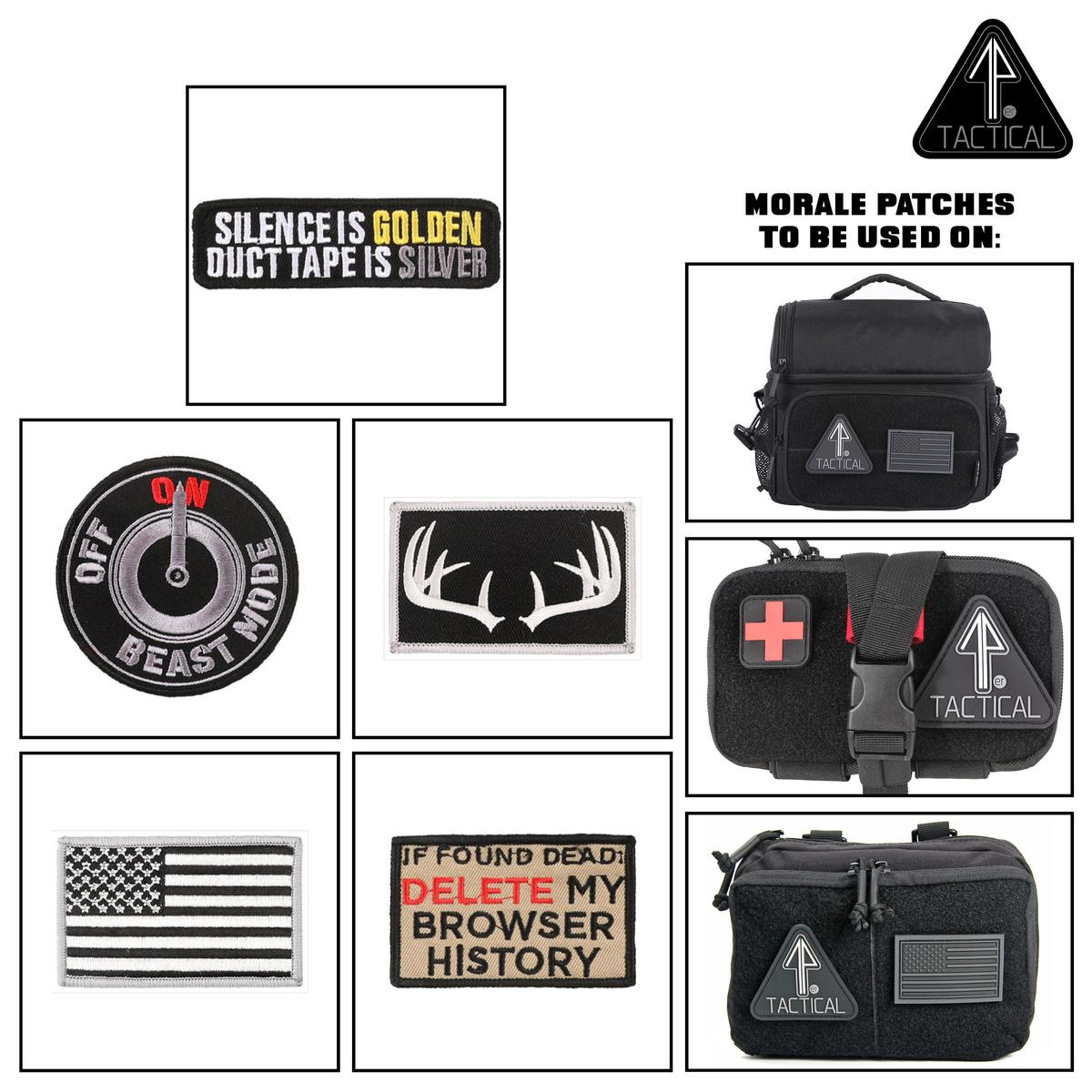 14er Morale Patches can be attached through Velcro to a 14er Tactical Lunch Bag, IFAK, or Admin Pouch.