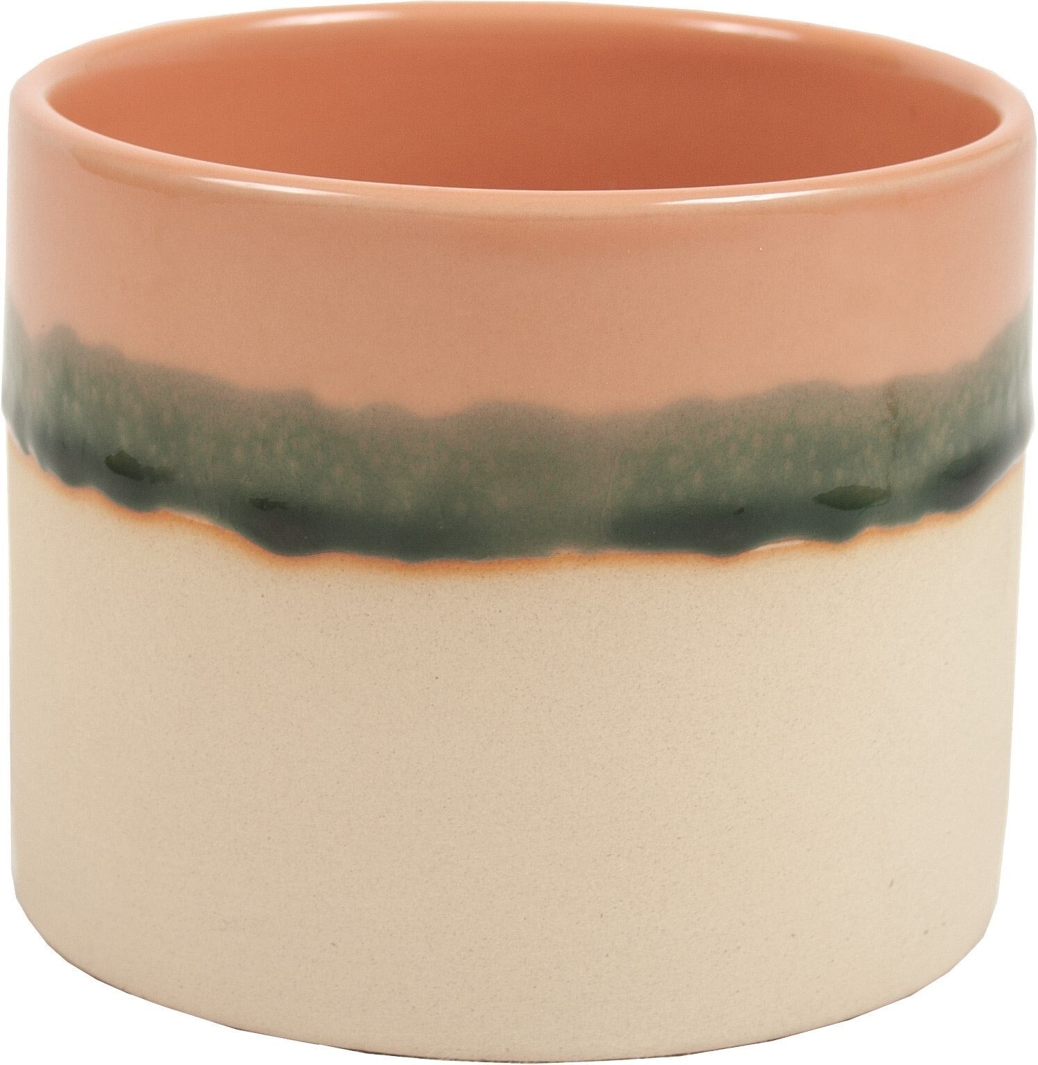 METRO PINK REACTIVE GLAZE CERAMIC POT