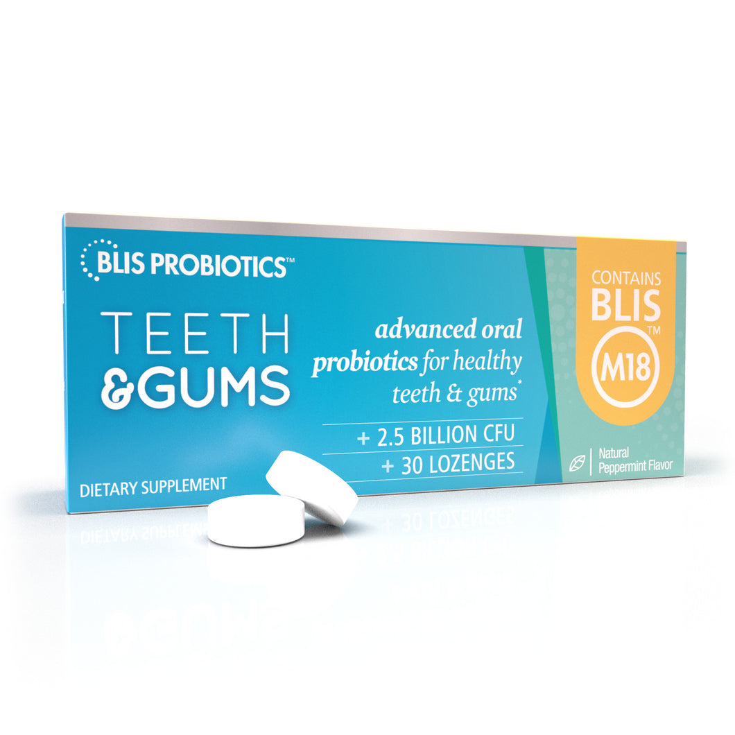 Teeth & Gums - advanced oral probiotics for healthy teeth & gums