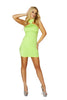 Mini Dress 1pc Lime Cropped