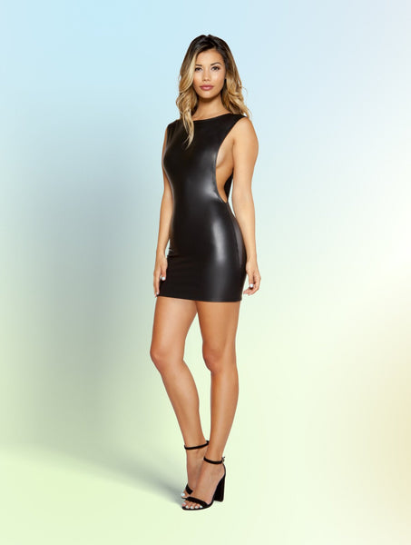 Mini Dress with Open Cutout Side Detail