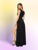 Dress Maxi Length Dress with Front Slits
