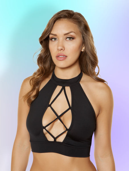 Top Strappy Lace-up Crop Top