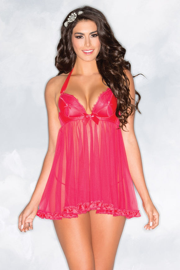 1-Piece Plunging Babydoll