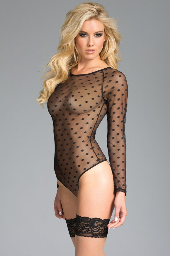 Bodysuit 1-Piece Sheer long sleeve