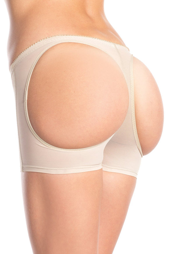 Butt booster boyshort with rear round openings