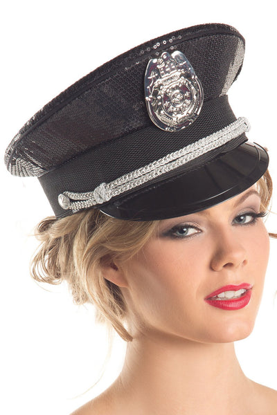 Hat Sequin Police Hat
