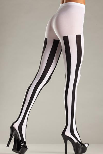 BW678B Vertical Striped Pantyhose