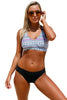 Tribal Dream Bikini Top & Solid Side Strap Bikini Set